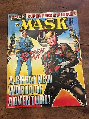 MASK - FREE SUPER PREVIEW ISSUE - 1986 - UK Comic