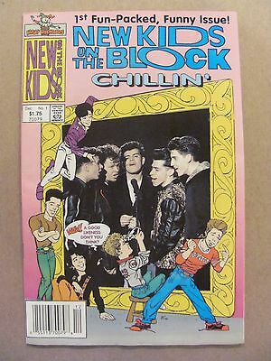 New Kids On The Block Chillin' #1 Harvey Comics 1990 Newsstand Edition