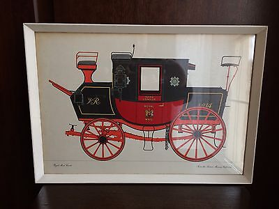 Post Office Transport Vintage Print Of A Royal Mail Coach.