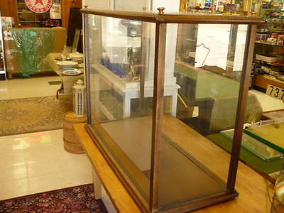 Huge !   Boat , Ship , Collectible Wood Framed Glass Display Case 44""