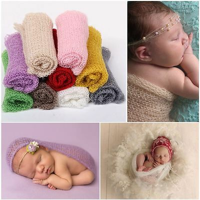 Newborn Baby Stretch Wrap Infant Boys Girls Photography Photo Prop Blanket Rug