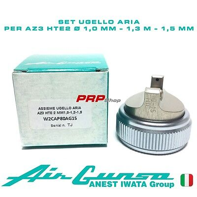 Set Ugello Aria per Air Gunsa AZ3 HTE2 -Air Cap Set 1.0 mm - 1.3 mm - 1.5 mm