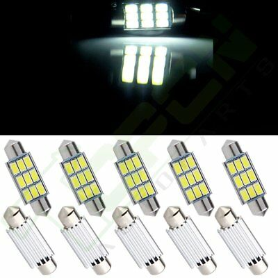 """10X Ultra White 9SMD 5730 LED 1.54"""" Canbus No Error Map Dome Light Festoon 39mm"""