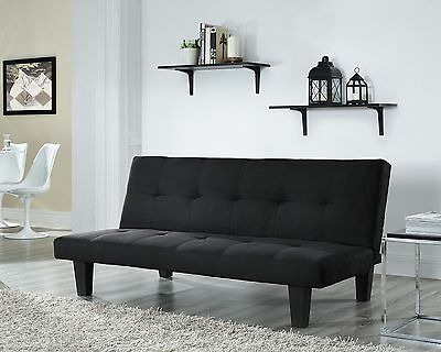 Fabric 3 Seater Sofa Bed Faux Suede Fabric Designer Sofabed Black Taupe Grey Red