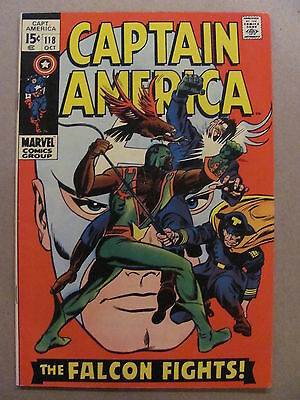 Captain America #118 Marvel Comics 1968 Series 2nd app The Falcon