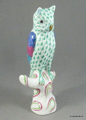 HEREND Porcelain OWL Figurine - Hand Painted - Hungary - Perfect