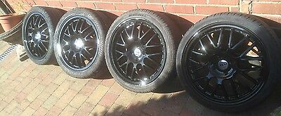 "17"" zcv 4x100 alloy wheels and tyres"