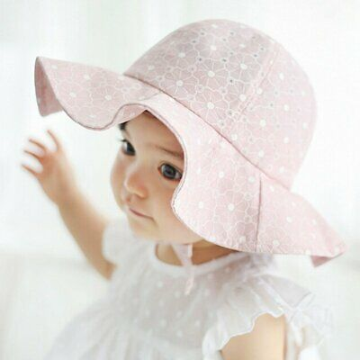 Newborn Baby Girl Flower Princess Sun Hat Summer Toddler Kids Outdoor Bucket Cap