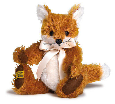 Merrythought Freddy Fox classic jointed mohair - 23cm / 9 inches - FFU9 - MIB