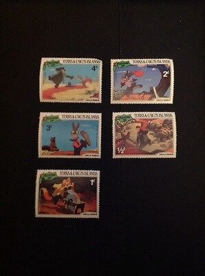 L3-6 Stamps X 5 Turks & Caicos Islands Uncle Remus Walt Disney Brer Rabbit 1981
