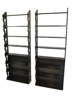 Pair Of 1960's Baker Shelves Cerused Oak Model 3827