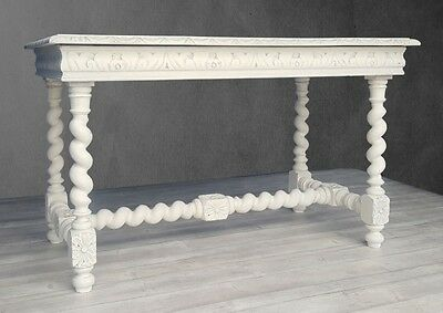 Superb Antique French Carved Oak Painted Sideboard Console Table Desk