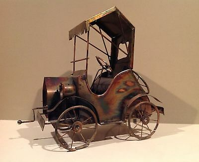 Vintage Brass Copper Metal Model T Car Music Box Take Me Home Country Road