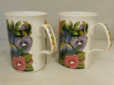 Two Roy Kirkham Charmaine pattern mugs
