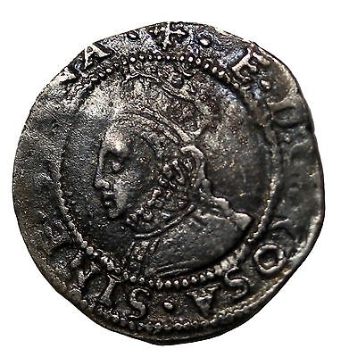 Elizabeth I 1560-1561 AD Great Britain Silver Penny S.2558 MM Cross Crosslet