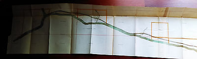 1905 Muscle Shoals Canal and Adjacent Lands Tennessee Map