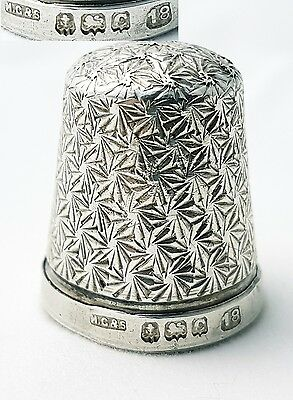 Antique Sterling Silver Thimble Henry Griffiths & Son Birmingham 1902 (size 18)