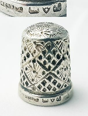 Antique Sterling Silver Thimble Henry Griffiths & Son Ltd Chester 1923 (Size 13)