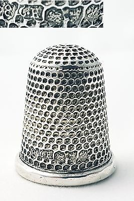 Antique Sterling Silver Thimble Charles Horner Chester 1908 (size 8)