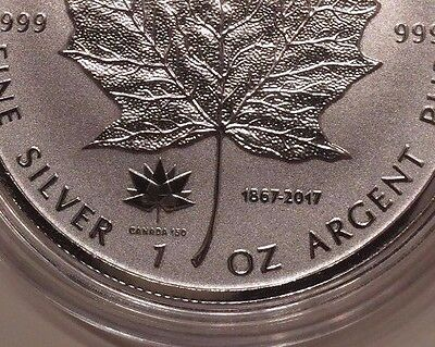 2017 - 150th Anniversary Double Privy Maple Leaf Pure 1 oz .9999 Silver Canada