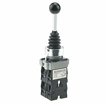 URBEST SPST 4 NO. 4 Position Momentary Type Monolever Joystick Switch for Air S