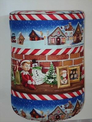 WATER COOLER BOTTLE COVER CHRISTMAS VILLAGE ELF ON SHELF View Window $2 Shipping