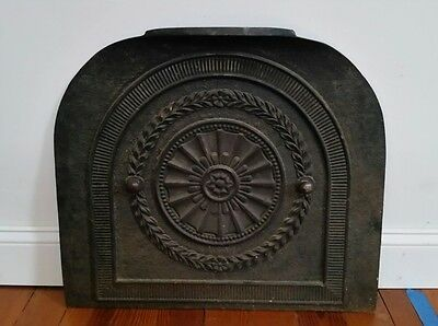 Antique Arched Top Cast Iron/Metal Fireplace Cover