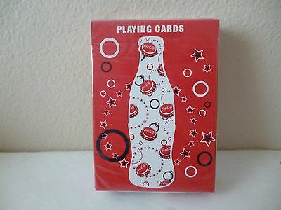 Coca-Cola Playing Cards    Bottle, Caps & Stars     By  Bicycle   Sealed Deck