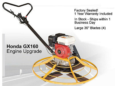 New Honda GX Series Walk Behind Power Trowel GX160 Gas 5.5HP  - CLEARANCE SALE