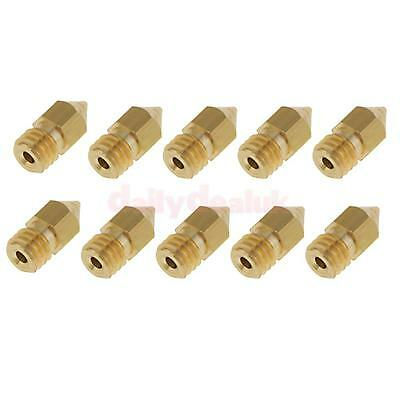10x 3D Durable Printer Extruder Brass 0.4mm Nozzle Print Head for Ultimaker