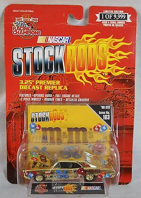1999 ERNIE IRVAN #36 M&M's 1966 GTO Gold Stock Rod Racing Champions Issue #163