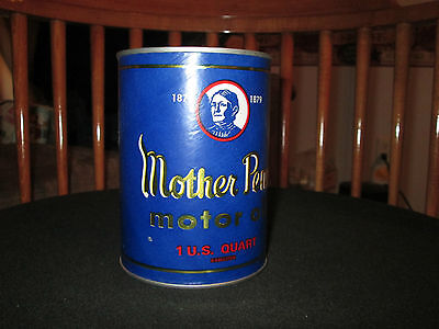 Mother Penn,Paper  Oil Can Collector Bank 1QT NOS 1950's 1960's
