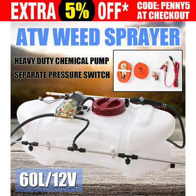 WACWAGNER 60L ATV Weed Sprayer 12V Pump Driven Tank Garden Farm Spray Boom Spot
