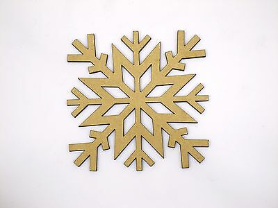 Eight 10cm Snowflake Craft Wood 3mm MDF For Your Frozen Christmas Needs