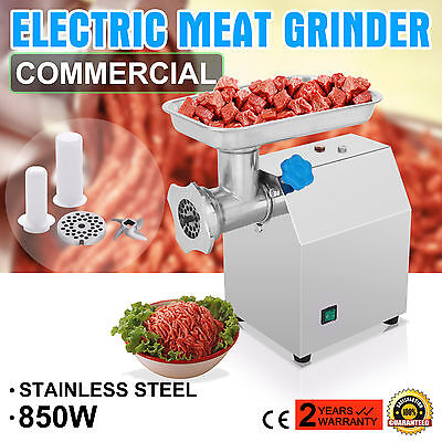 Commercial Electric Meat Grinder Sausage Filler Stainless Steel 190R/Min Blade