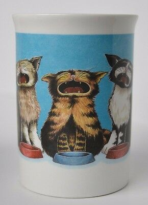 Comic Cats Coffee Cup Mug Hungry Cats Cute Cat Lover Kitty Kittens Pet Animal