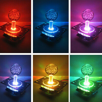 US Arcade LED Illuminated Joystick Colorful Switchable from 4 to 8 way operation
