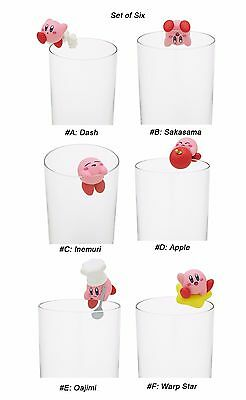 Kirby of Stars PVC Decoration Putitto Figure Ochatomo Series ~ Set of Six @17758