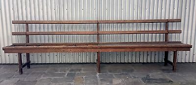 3050mm VINTAGE INDUSTRIAL ANTIQUE HARDWOOD BENCH SEAT CHURCH PEW RESTORE MELB
