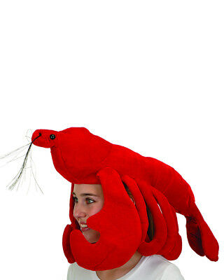 Funny Plush Red Lobster Party Hat Cap Costume Accessory