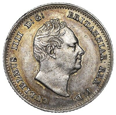 1836 Groat (Fourpence) - William Iv British Silver Coin - V Nice