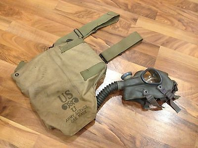 WWII Era US Army Gas Mask & Carry Bag
