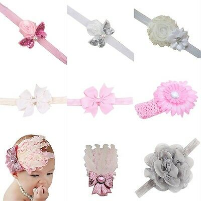 Fashion 1PC Infant Toddler Headbands Bow Lace Flower Hair Band For Baby Girl