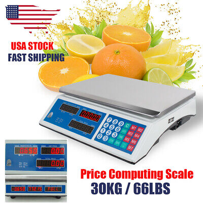 30KG Digital Weight Scale Price Computing Food Meat Scale Produce Deli Indutrial