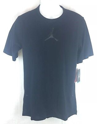 75d0b6705705d8 Nike Air Jordan 23 Tech Training T-Shirt Squadron Black Black (802183 011
