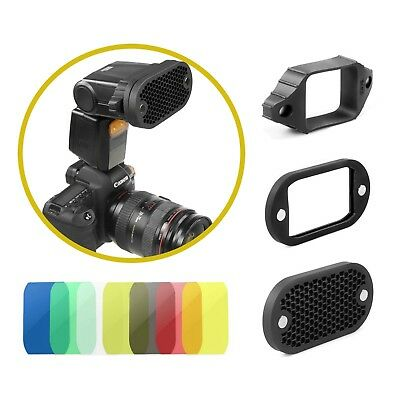 Flash Speedlite Selens Magnetic Honeycomb Grid Spot Filter Set for Canon Nikon