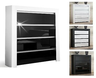 High Gloss Top Quality High Quality Chest Of Drawers Sideboard 4 Drawers Cabinet