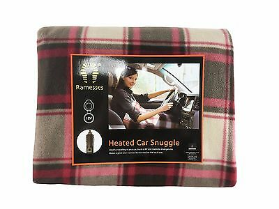 Electric Heated Car Snuggle,Blanket,12V,Polar Fleece,1-Year Warranty,110*150cm