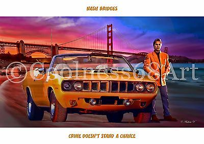 A4 size Nash Bridges Original Art Print