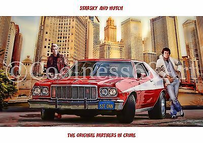 A4 size Starsky And Hutch Original Art Print